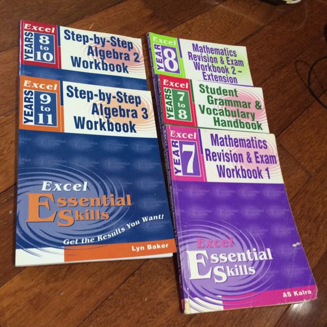 range of excel textbooks high school textbooks on carousell