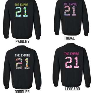 Sweatshirt hipster With Your Number And Your Name