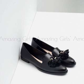 海外代購 ZARA 2016 早春新品 小流蘇樂福鞋 便鞋