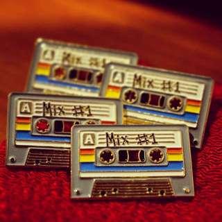 Zato Designs Mix Tape Pin