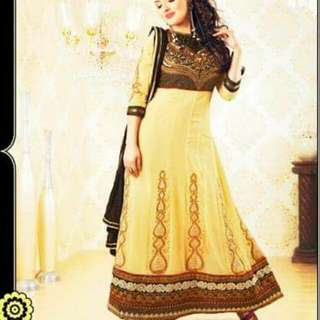 Semi Stitch Anarkali