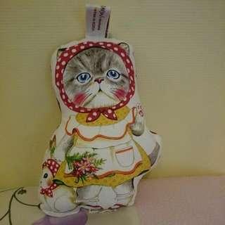 手工縫製貓咪小抱枕