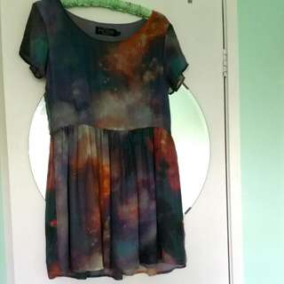 Galaxy Skater Girl Dress