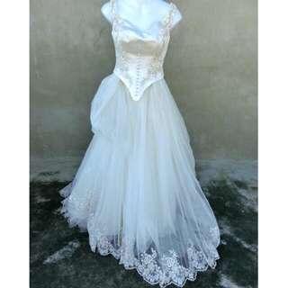 復古華麗蕾絲大拖尾禮服 婚禮 自助婚紗 60