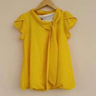 Ribbon Yellow Blouse