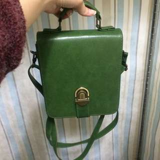 古著墨綠好質感包包