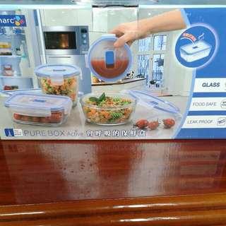 樂美雅全鋼化玻璃保鮮盒