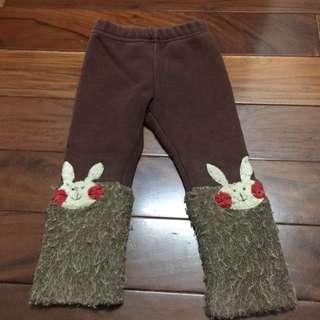 二手兒童厚鋪棉/刷毛褲(5)