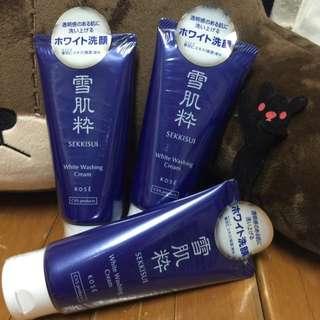 👍🏻 (待匯款)雪肌粋 日本限定版洗面乳 🎉