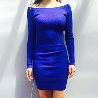 Royal Blue Tight Party Dress