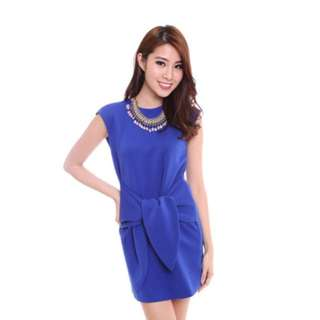 MDS Aries Dress In Blue Or White