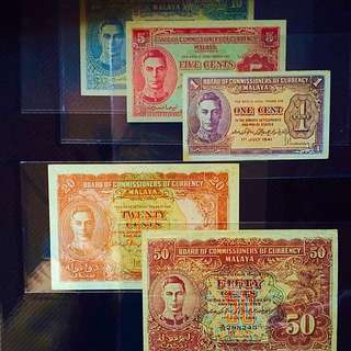 Malaya Currency ( Selling For The Price Of 1 Set)