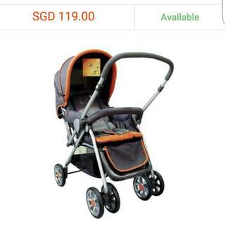 Polka Easi™ Baby Stroller Reversible Orange