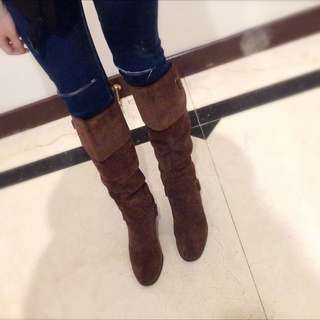 AS鹿皮高跟長靴