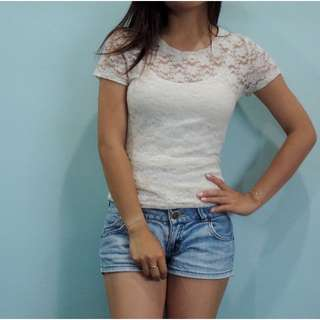 [RESERVED] H&M Lace Top