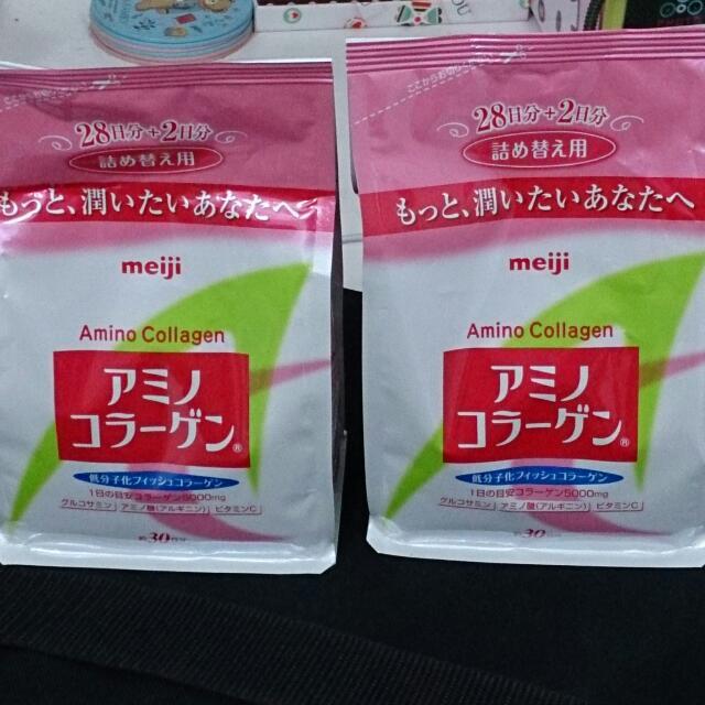 明治膠原蛋白粉2包一起賣