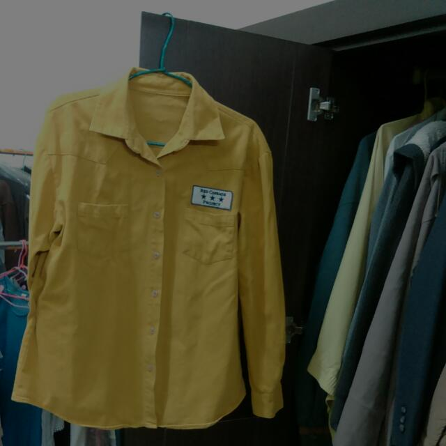 韓版薑黃襯衫