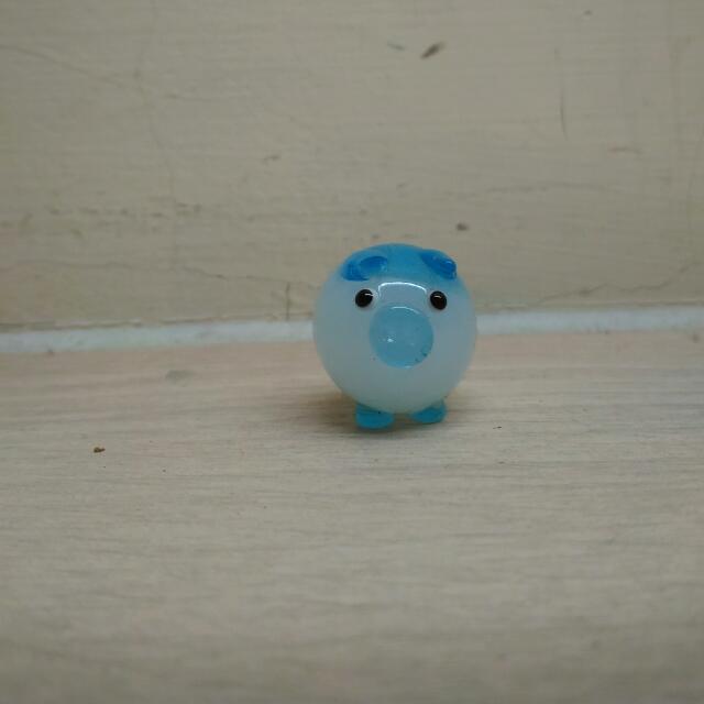 贈品 藍色小豬擺飾
