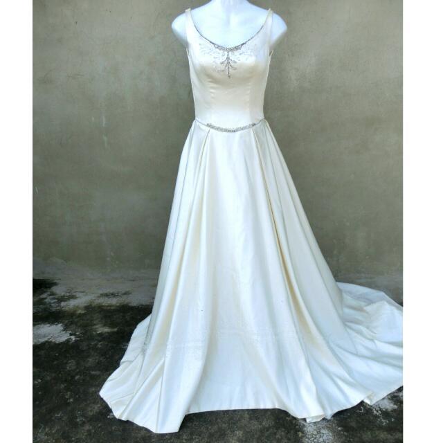 氣質手工串珠水鑽大拖尾禮服 婚禮 自助婚紗 58