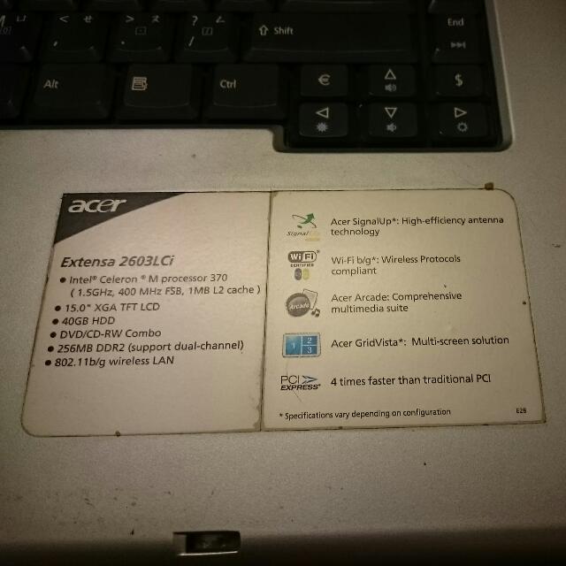 Acer-extensa 2600