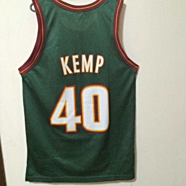 100% authentic 149b3 155fd Authentic Shawn Kemp NBA Jersey