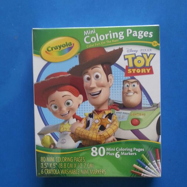 Bnib Crayola Toy Story Mini Coloring Pages Babies Kids On Carousell