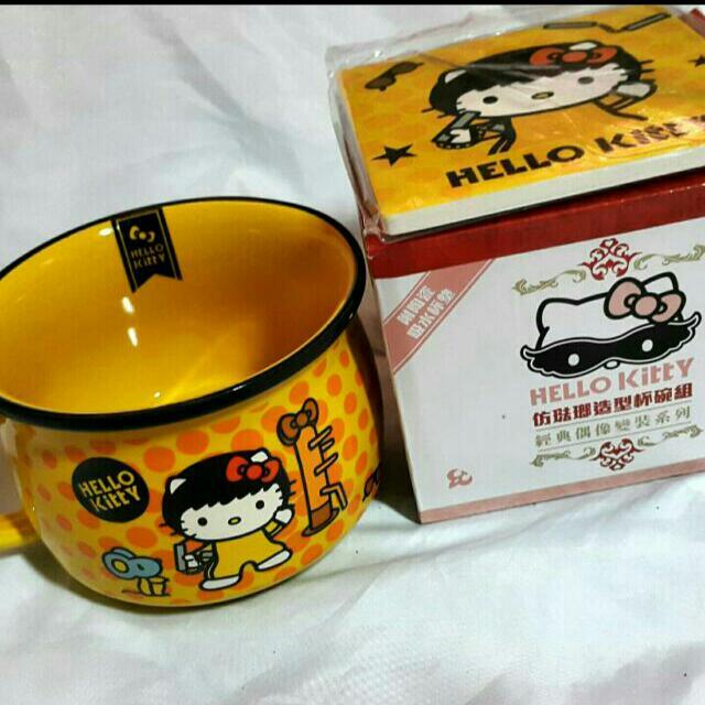 Hello Kitty造型杯碗組-香港武術風
