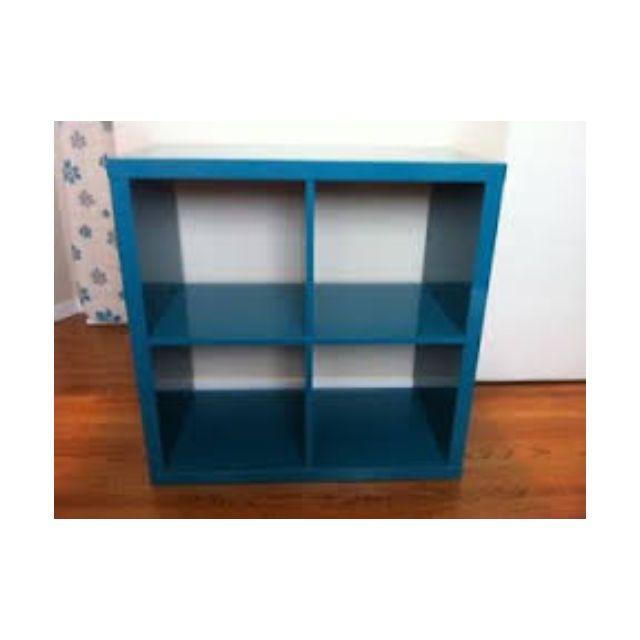 ikea kallax 4x4 shelving unit in high gloss turquoise. Black Bedroom Furniture Sets. Home Design Ideas