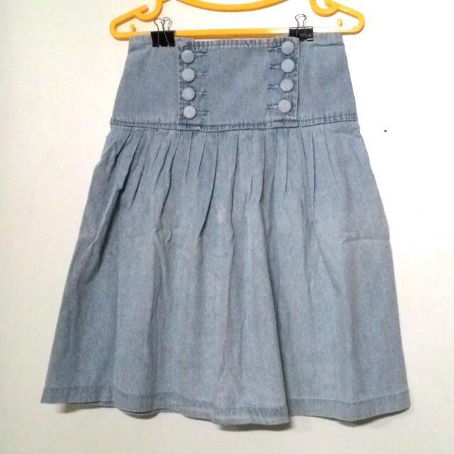 Light Blue Jeans Skirt