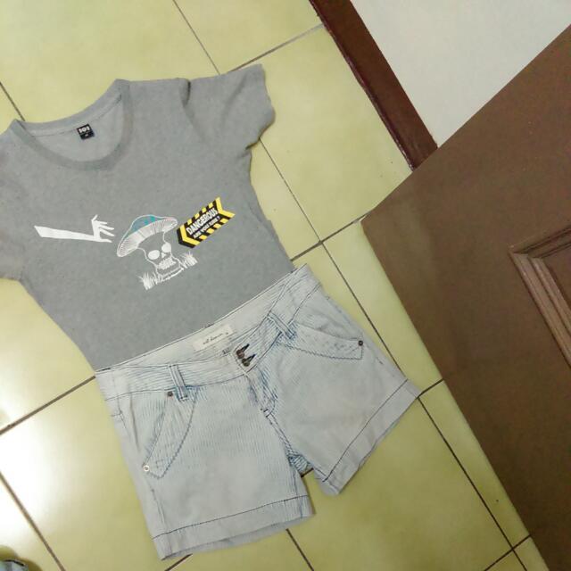 Net海軍風短褲