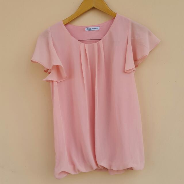 Pink Puff Blouse