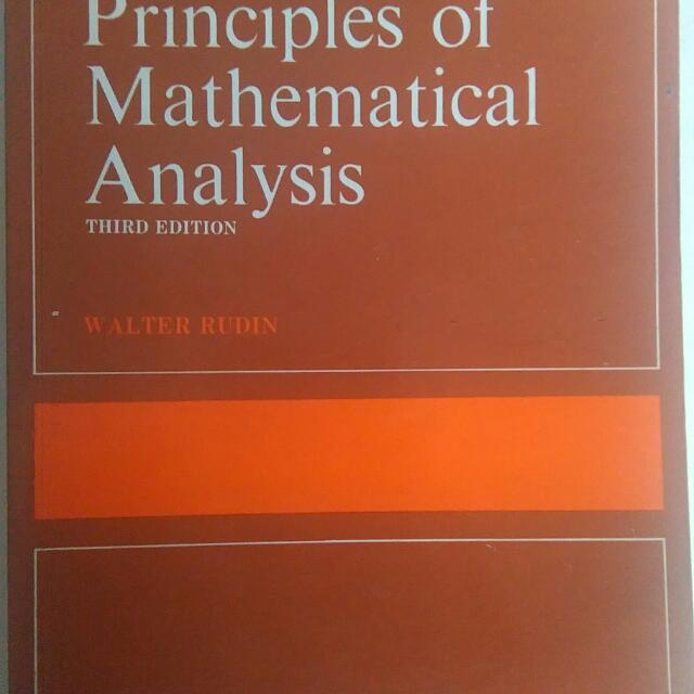 Principles of Mathematical Analysis  By Walter Rudin , Books