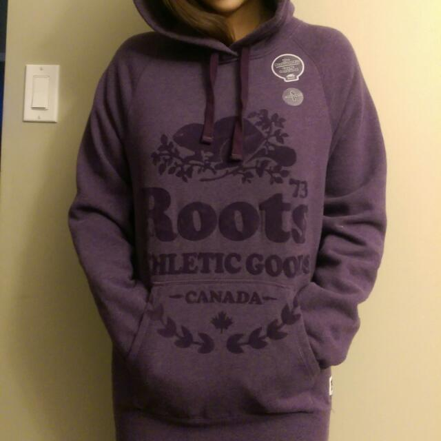 Roots 超可愛女長版帽T