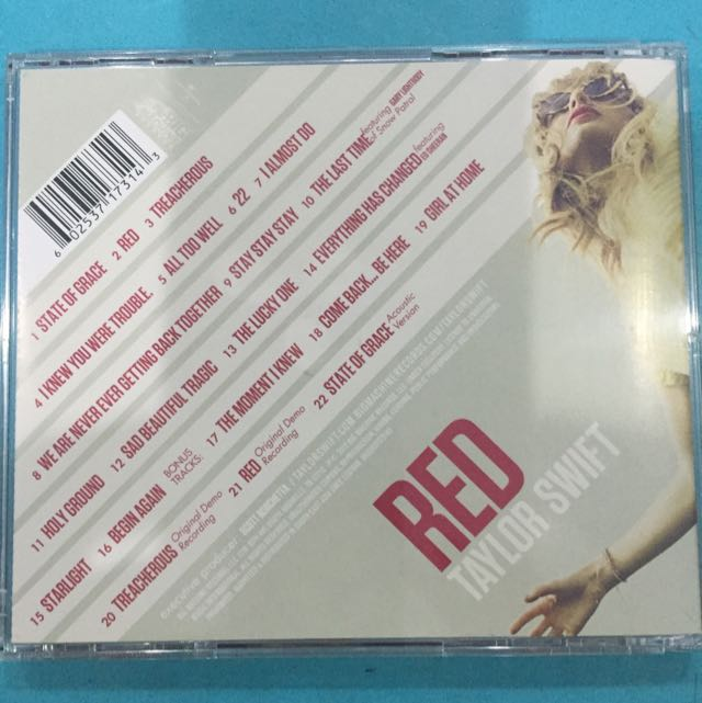 Taylor Swift Red Audio Music 2 Cd With Bonus Tracks English Music Media Cds Dvds Other Media On Carousell