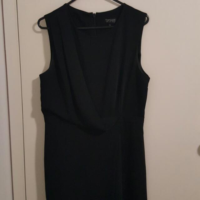 Top Shop Black Dress Size 12