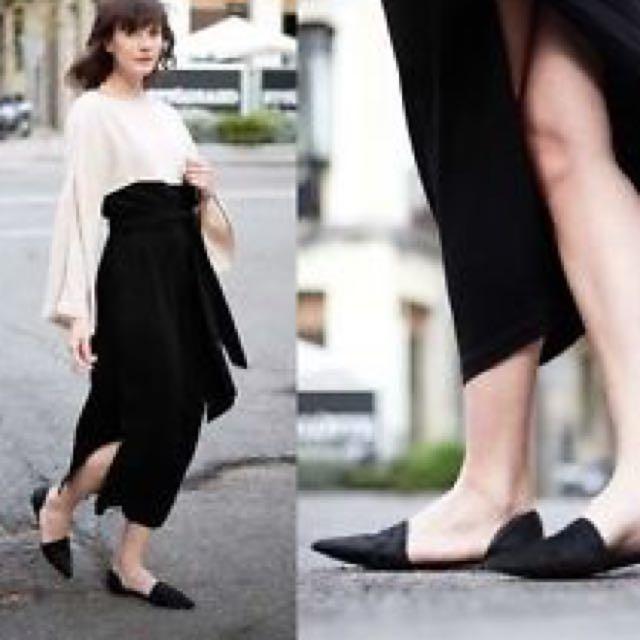 Zara pointed flat 平底尖頭鞋
