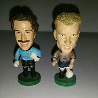 Original Corinthians ARSENAL figures (Bergkamp SOLD!)