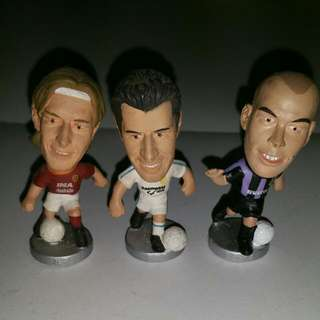 Non-Corinthians Pocket Sports Soccer Football Figures (Totti, Figo, Ronaldo)