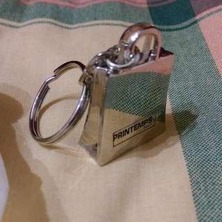 歐洲 購物包造型金屬匙圈