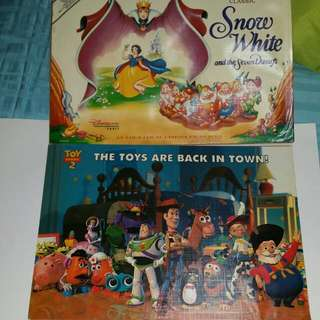 Classic Movie Posters Of Toy Story And Snow White - Actual Publicity Posters