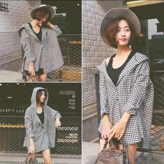 黑白⚫️⚪️格子襯衫外套