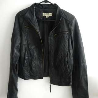 Just Jeans Leather Jacket SUPER SOFT - Sz 8