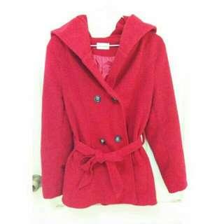Ruru's Shop🌸二手出清✨紅色毛呢大衣