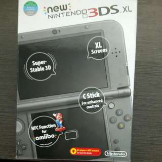 BNIB New Nintendo 3DSXL(Metallic Black)