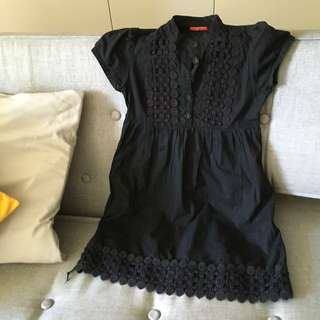 Black vintage Baby Doll Dress