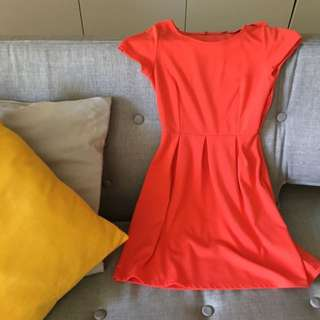 Bright Orange Winter Dress