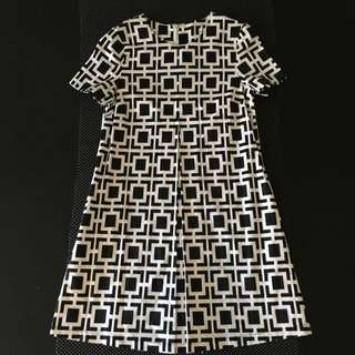 80's Geometric Pattern Dress