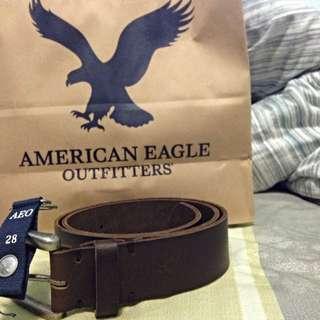 AMERICAN EAGLE真皮寬版皮帶