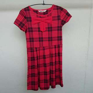 Brand New H&M Red Checked Dress
