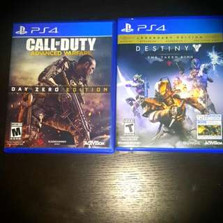 Selling Ps4 Games.